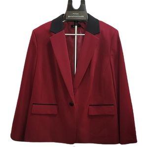 Nine West burgundy blazer